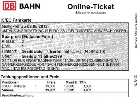 togbilletter tyskland